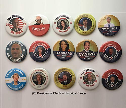 - Presidential Election Historical Center 2020 Democrat Candidates Collectors Set - Set of 15-2.25 inches
