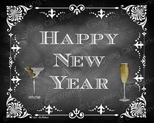 Amazon.com: New Years Decor Happy New Year Wall Art New ...