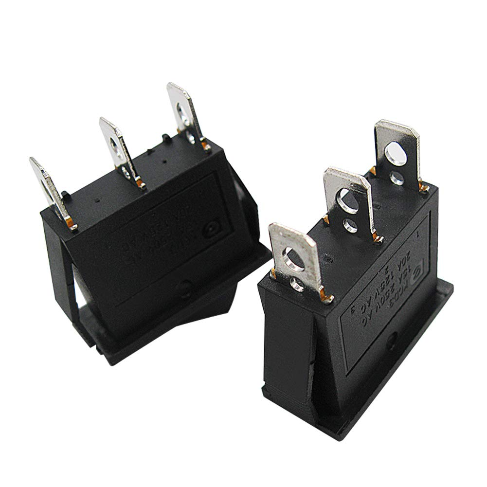 Use for Car Auto Boat Household Appliances 1 Years Warranty MXU3-101 mxuteuk 8pcs Snap-in Boat Rocker Switch Toggle Power SPST ON-OFF 2 Pin AC 250V 15A 125V 20A