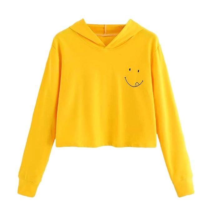 URSING Kapuzenpullis Langarm Damen Herbst Hoodie Sweatshirt mit Kapuze  Pullover Schöne Tops Elegant Festliche Bluse Streetwear 038e165309