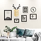 ALUS- 6 Multi Photo Frames Set Wood Creative Portfolio Nordic Style Living Room Bedroom Restaurant Wall Photo Picture Wall Frame ( Color : #2 )