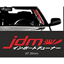 Kaizen Auto Racing JDM Japan Kanji Front Car Styling Vinyl Sticker Decals For Volkswagen, Toyota, Honda, Chevrolet, Ford, Mercedes Benz, Audi, BMW and Any SUV,Truck or Sedan Car Color Red