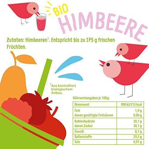 BIO Himbeeren gefriergetrocknet 25g: Ganze getrocknete Himbeeren ungezuckert - Gefriergetrocknete Himbeeren mit purer Frucht, voller Geschmack: Beeren gefriergetrocknet - Getrocknete Fruechte NUTRIPUR