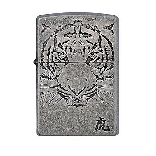 Zippo Tiger Face Sl Lighter / Genuine Authentic / Original Packing (6 Flints set Free Gift)