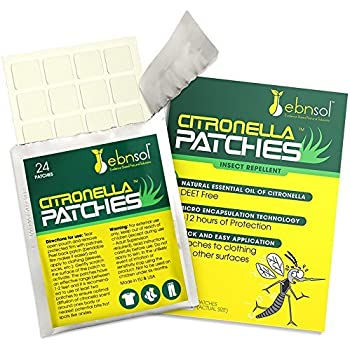 Amazon Com Ebnsol Citronella Patches Natural Mosquito