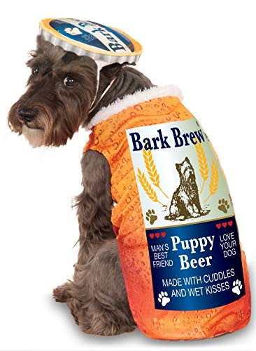 Bottle Of Beer Costume (Bark Brew for Pet, Medium)