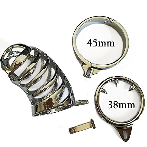 ZL-TECH 45mm Stainless Steel Ma-le Birdcage Belt with Anti-Shedding Ring