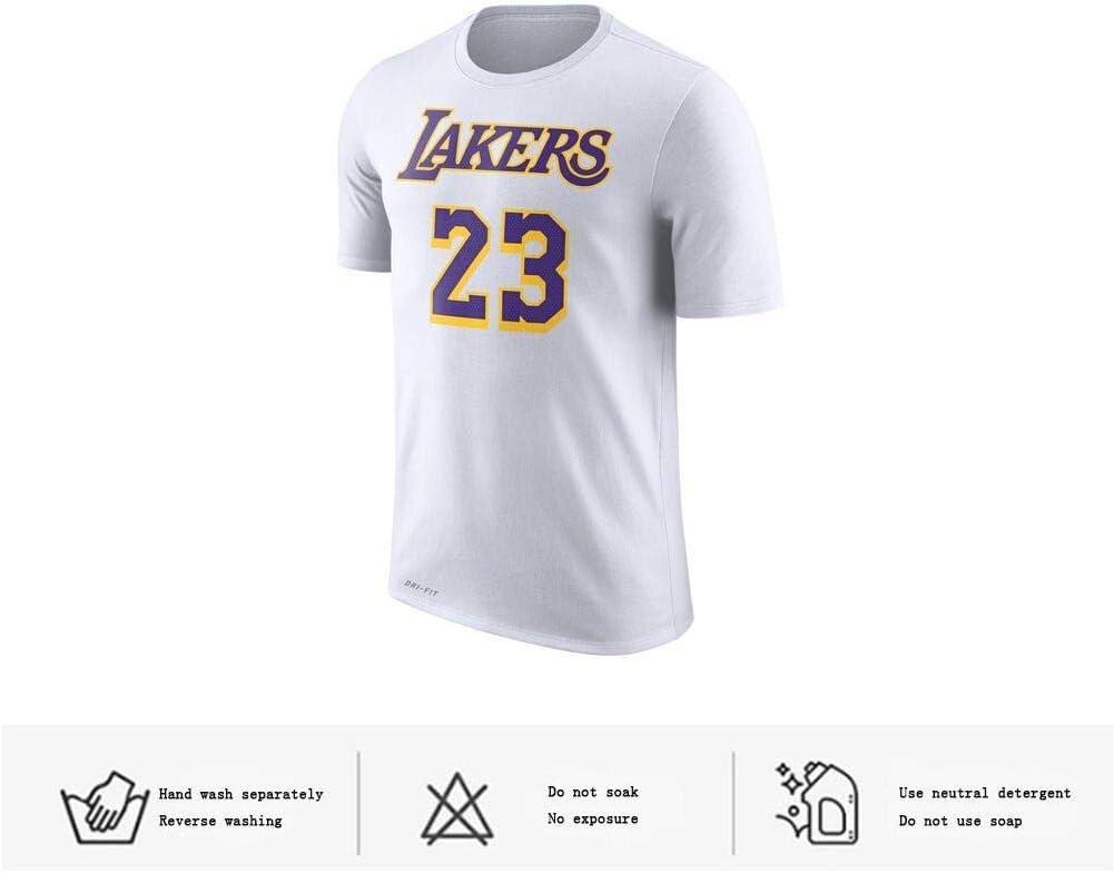 Camiseta de Baloncesto # 23 Lakers James Casual Cuello Redondo Manga Corta Camiseta Hombre Color de Imagen XXL