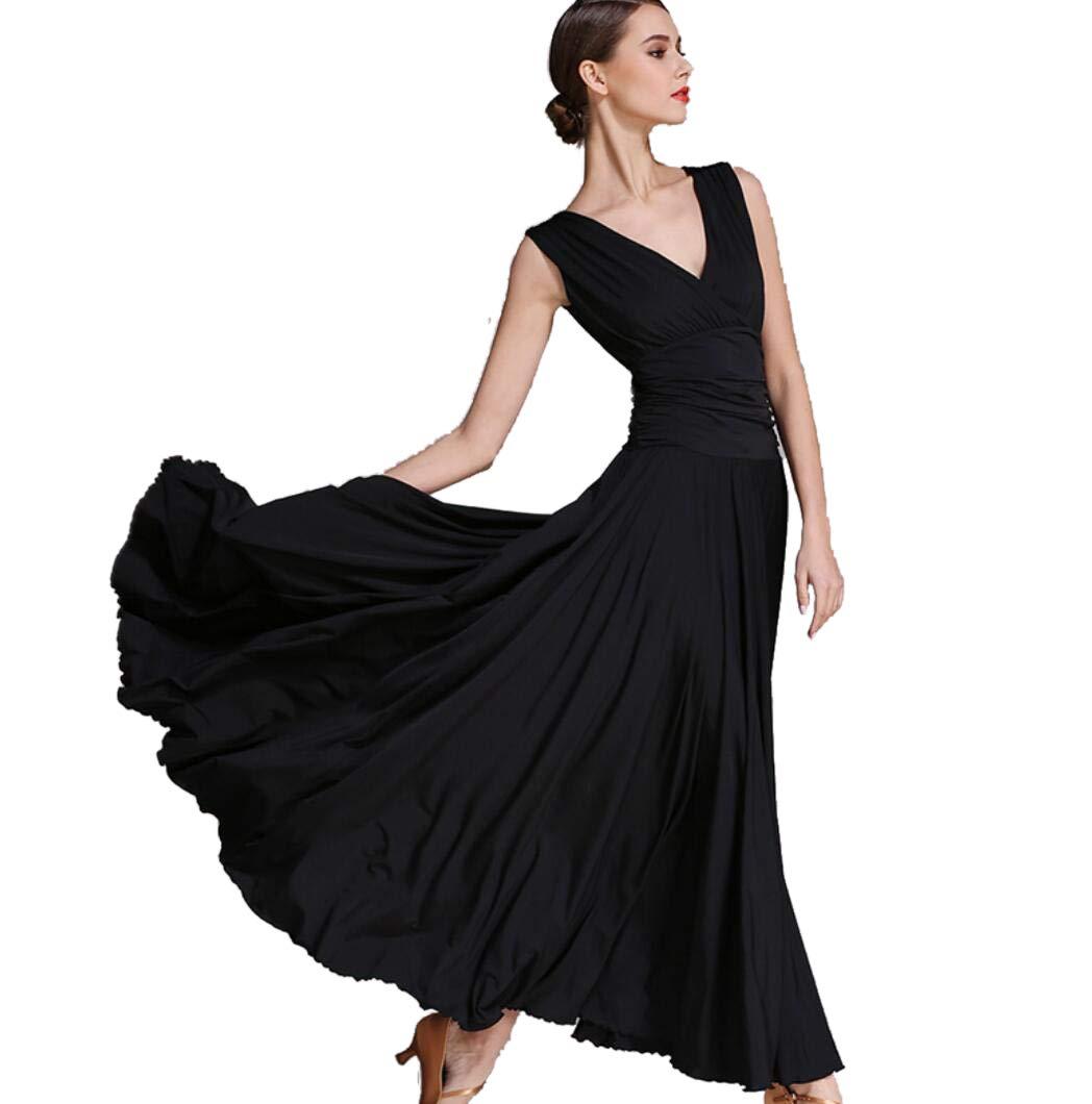 noir XL SMACO Robe de Danse Moderne pour Femmes, Robes Costumes de Danse Moderne Valse Robe de Danse Moderne pour Femmes