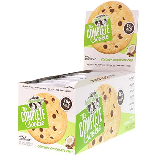 Lenny & Larry's The Complete Cookie, Coconut Chocolate Chip, 4 Ounce Cookies - 12 Count, Soft Baked, Vegan and Non GMO Protein Cookies