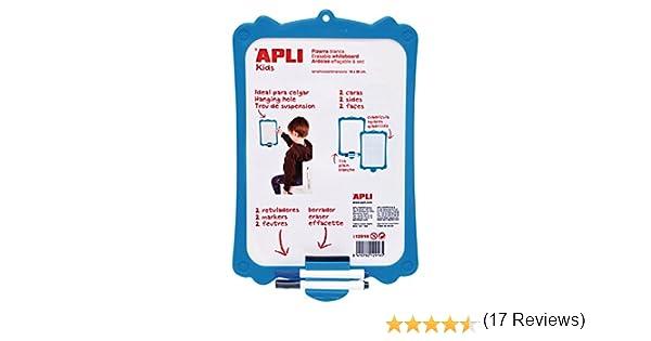 APLI Kids 12916 - Pizarra blanca rígida con borrador y rotuladores