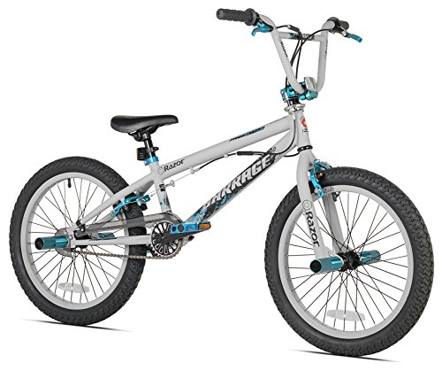 (Razor Barrage BMX/Freestyle Bike, 20-Inch, Grey/Blue)