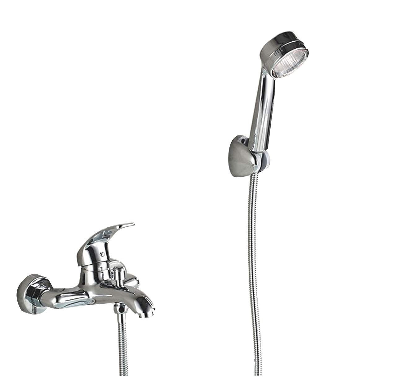 Simple Shower Mixer Set In Bathroom Wall Mounted Shower System With Handheld Shower + Shower Tap,Bath Hardware Accessories