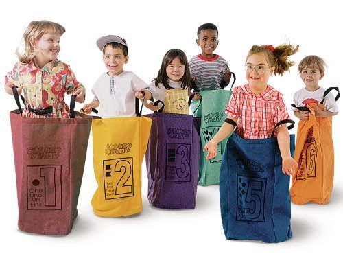 Learning Carpets Jumping Bags - Set Of 6 by Learning Carpets