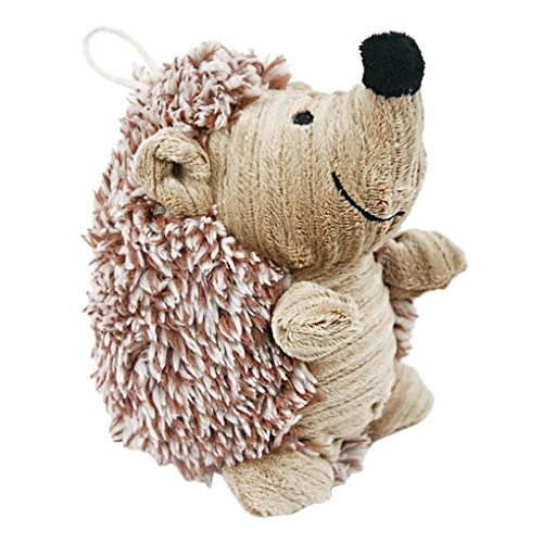 Plush Dog Puppy Toys Hedgehog Dog Toy Giggler Squeak Chew Toy Molar Teeth Cleaning Stuffed Animal Doll Squeaky Pet Toys Biting Training Playing Toys for Small and Medium Dogs Puppies (Dog Toy Pug)