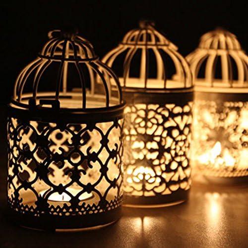 Kentop 5Stk Kerzenhalter Laterne Birdcage Metall Kerzenst/änder Hollow Carve Muster Kunst Kerze Halter f/ür Home Tischdekoration Hochzeit Dekoration