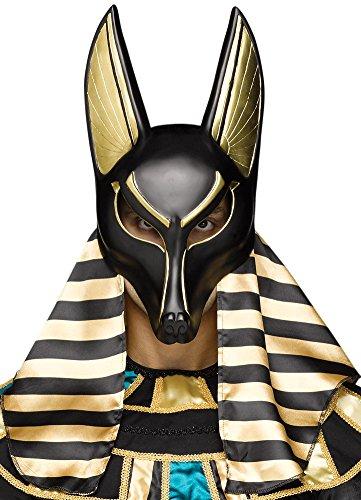 Fun World Men's Anubis Mask Adult, Multi -