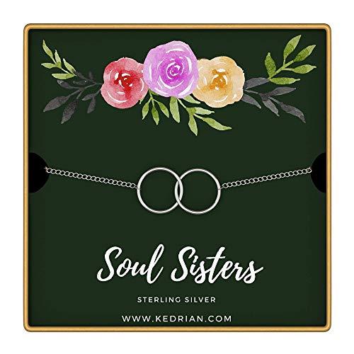 (KEDRIAN Soul Sisters Bracelet, 925 Sterling Silver, Friendship Bracelet, Best Friend Bracelet, for Women, Friendship Gifts for Women (Soul Sisters - Green))