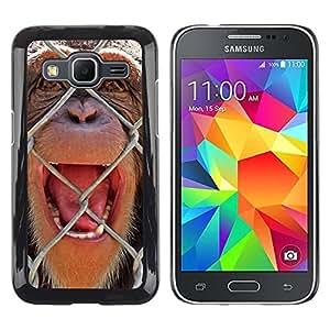 TopCaseStore / la caja del caucho duro de la cubierta de protección de la piel - The Chimpanzee - Samsung Galaxy Core Prime SM-G360