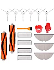 KEEPOW Accessory Kit for Xiaomi mijia Roborock E35 E25 E20 S50 S6 S51 Roborock with 4 Hepa Filters, 2 Main Brushes, 6 Side Brushes, 3 Mop Cloth, 2 Cleaning Tools
