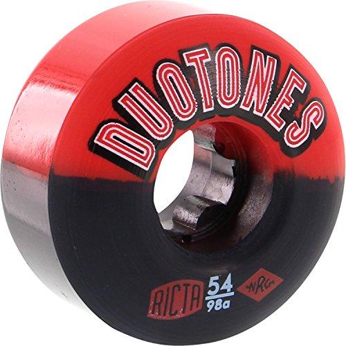 寓話マティス飛び込むRicta Duoトーン54 mm 98 aレッド/ブラックSkateboard Wheels (Set of 4 )