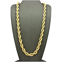 Rope Chain 7MM 24K Diamond Cut Jewelry Necklaces Made to Wear Alone /W Pendants Guaranteed For Life