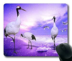Red Crowned Cranes Rectangle mouse pad Your Perfect Choice