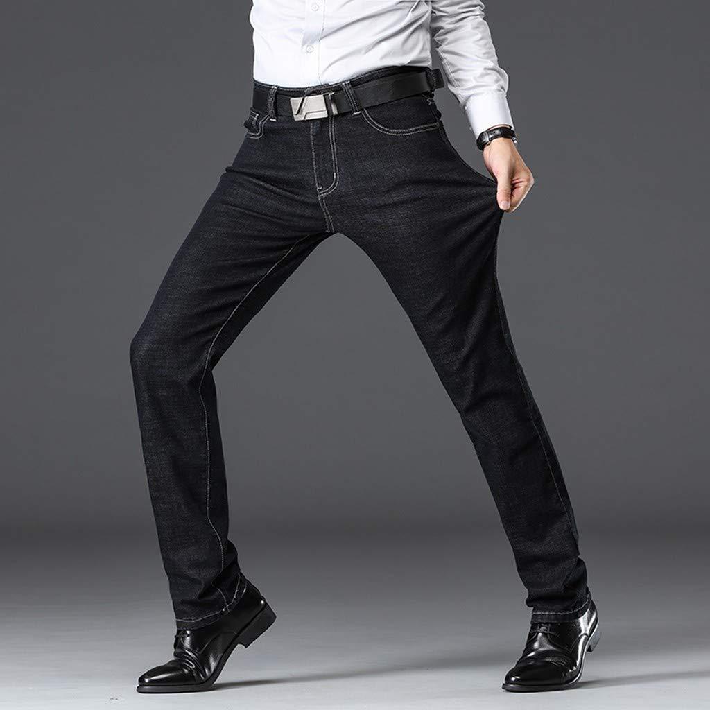 Goddessvan Mens Fashion Casual Denim Straight Trouser Loose ...