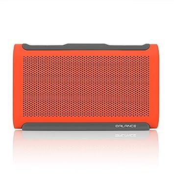 BRAVEN Balance Portable Wireless Bluetooth Speaker 18 Hour Playtime Waterproof Built-in 4000 mAh Power Bank – Retail Packaging – Orange