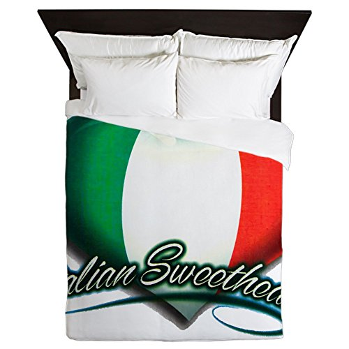 Queen Duvet Cover Italian Sweetheart Italy Flag by Royal Lion
