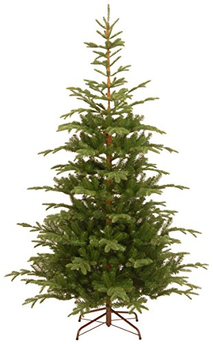 National Tree 7.5 Foot Feel Real Norwegian Spruce Tree, Hinged (PENG4-500-75)