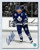 Wendel Clark Toronto Maple Leafs Autographed Metallic Spotlight 16x20 Photo