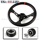 Fit 92-96 Mazda 626 Usa Deep Dish Cf Grip Steering Wheel+Hub+Quick Release Kit