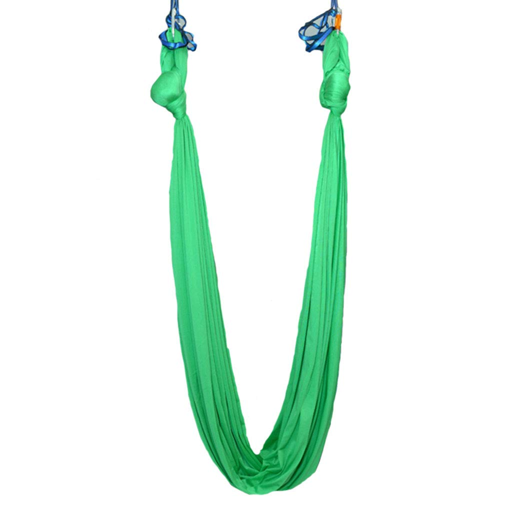 Green 280500cm Aerial yoga Hammock Aerial Yoga Hammock Indoor High Altitude Yoga Hammock Yoga Ingreened Exercise Accessories AntiGravity Yoga Swing Yoga Studio Ingreened Tools Aerial Yoga Set, Bearing About 300KG