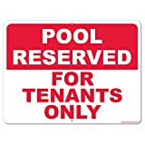 VictoryStore Yard Sign Outdoor Lawn Decorations: Pool Reserved for Tenants Only Aluminum Sign, Size 18 inch x 24 inch