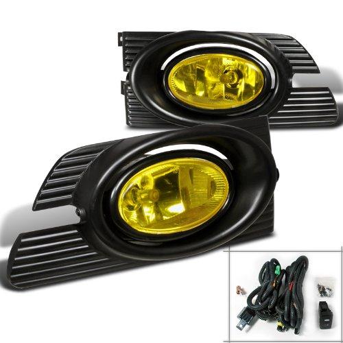 - Spec-D Tuning LF-ACD014AMOEM-RS Honda Accord Dx Ex Lx 4Dr Sedan Fog Lights Yellow