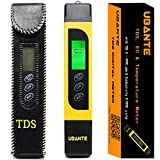 UBANTE Professional Quality TDS, EC & Temperature Meter, Water Quality Test Meter,0-9990ppm.Accurate