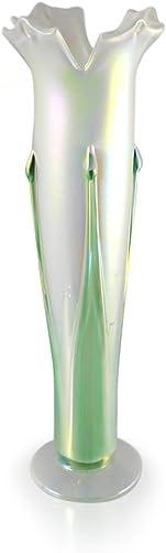 Modern Artisans American Hand-Blown Iridescent Glass Vase