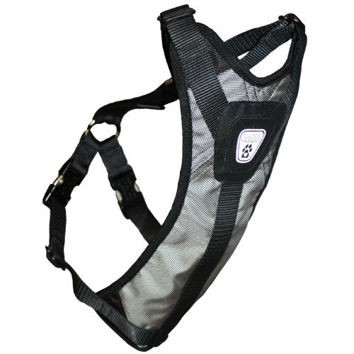 Impact Harness (Canine Friendly Dog Safety Harness, X-Large, Steel Grey)