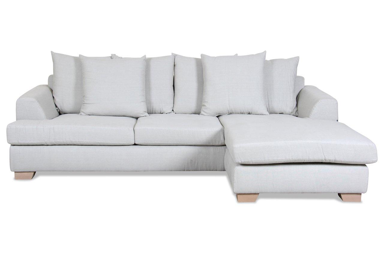 Sofa Furninova Polsterecke Edward - Webstoff Creme bestellen