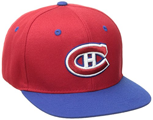 ZHATS NHL Montreal Canadians Youth Boys Z11 Snapback Hat, Adjustable, Red (Nhl Hockey Montreal)