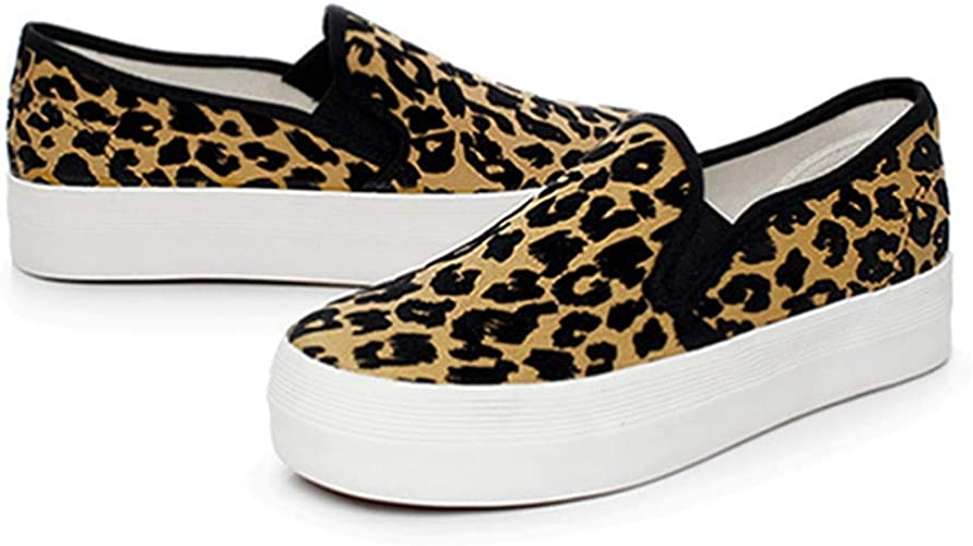 Thick Sole Shoes, Leopard Sneakers