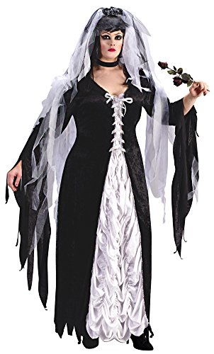 SALES4YA Adult-Costume Bride Of Darkness Plus Sz Halloween