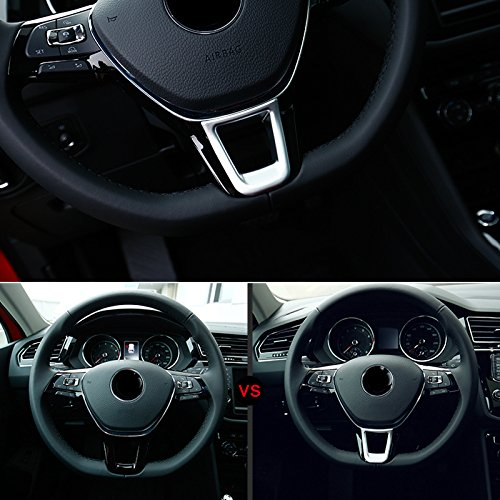 HIGH FLYING interior ABS plastica opaca Low Steering Wheel cover Trim 1PCS accessori per VWTGT6