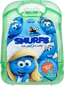 Smurfs Kids First Aid Kit Assortment, 50 pcs (Bulk case of 24) by The Smurfs