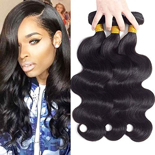 "10A Brazilian Virgin Hair Body Wave 3 Bundles 10"" 12"" 14"" 300g Brazilian Hair Bundles Unprocessed Virgin Remy Human Hair Bundles Natural Color"