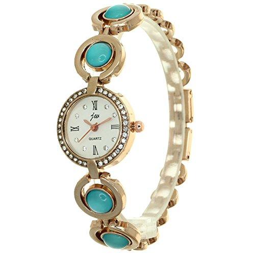 - Vintage Women Watch Rhinestone Pearls Quartz Bracelet Watch Beautiful Rhinestone Wristwatch Girls Jewelry Gifts For Lady Mother Lovers Dress Watches