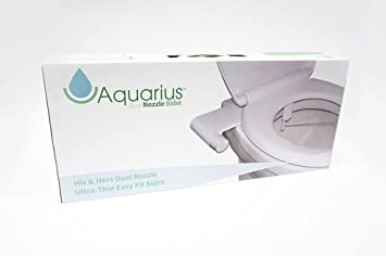 Aquarius His & Hers Super fin double Buse Retro Easy Fit Abattant WC ...
