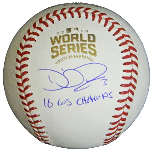 (David Ross Signed Rawlings Official 2016 World Series MLB Baseball w/16 WS Champs)