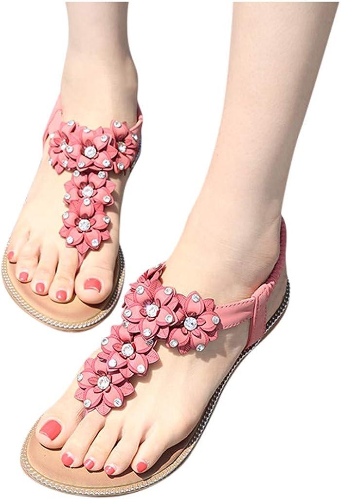 VEMOW Sandalen Sommer Schuhe Frauen Gewebte Plattform